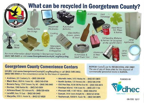 Click Open to See What you CAN Recycle in Georgetown County