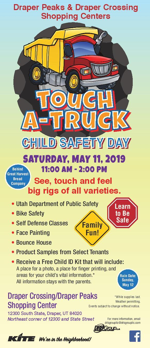 Child Safety Fair and Touch a Truck Event at the Draper Peaks and Draper Crossin