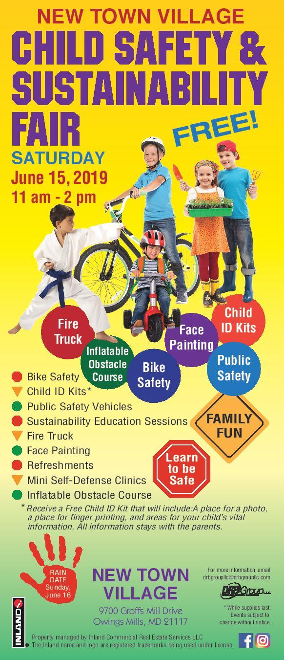 Child Safety Fair at the New Town Village