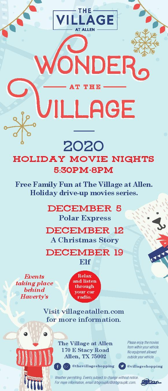 Wonder at the Village - Holiday Movie Night Series at The Village at Allen