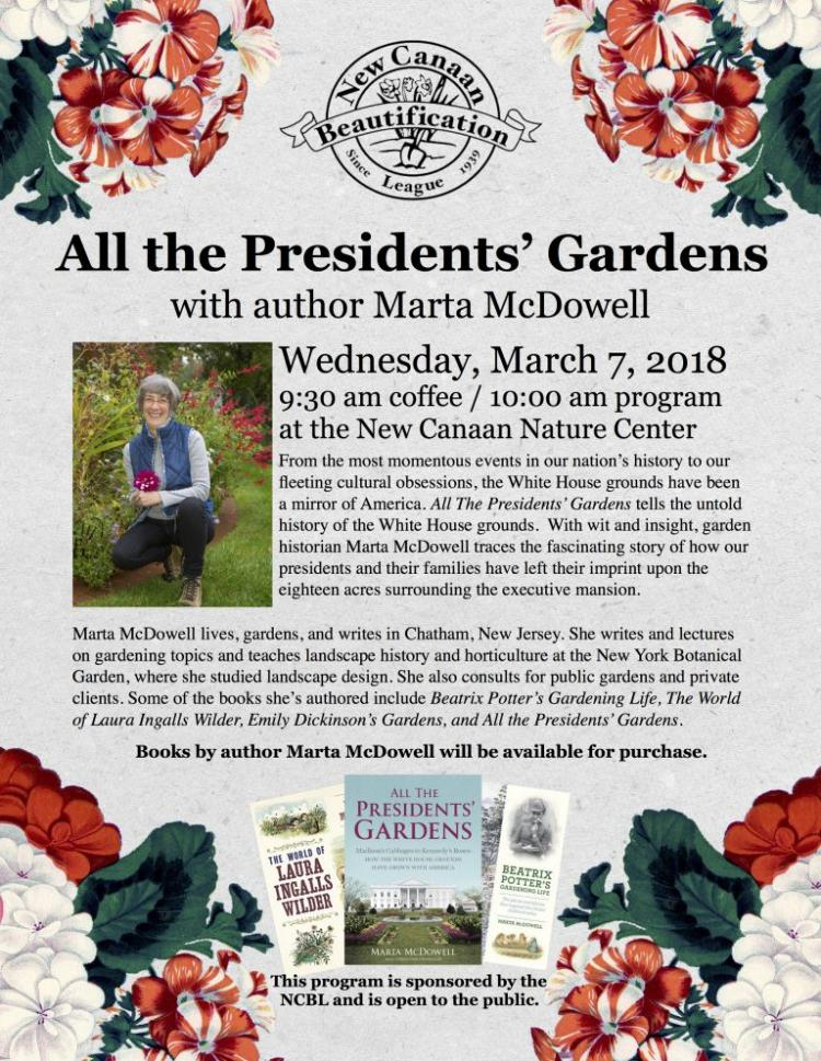 All The President's Gardens with author Marta McDowell