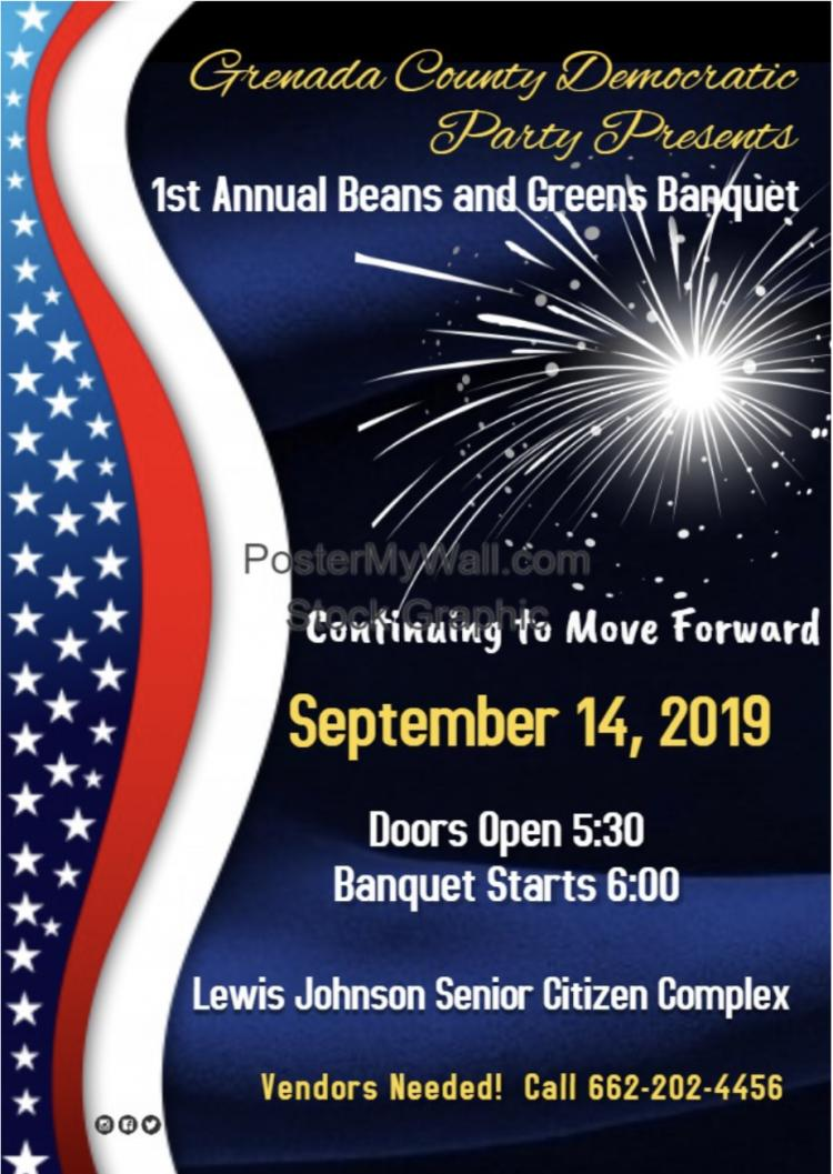 Grenada County Democratic Party Annual Beans and Greens Banquet