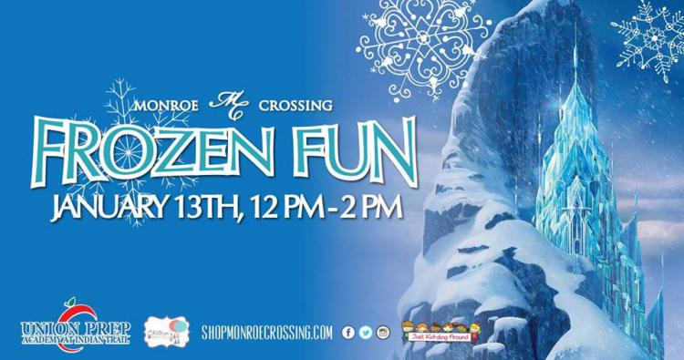 Frozen Fun at Monroe Crossing Mall