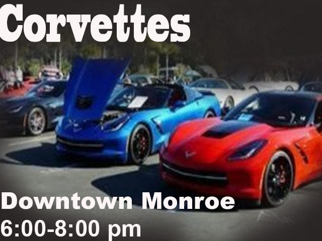 Downtown Monroe Car Cruise In - Corvettes