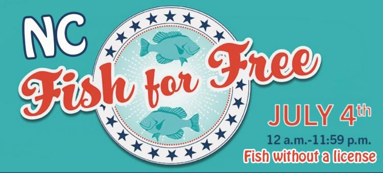 Fish for Free in NC on July 4th