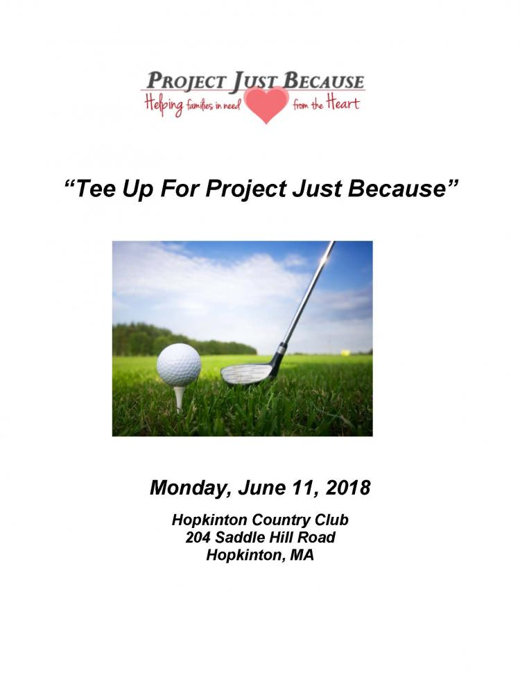 Tee Up for Project Just Because Golf Tournament