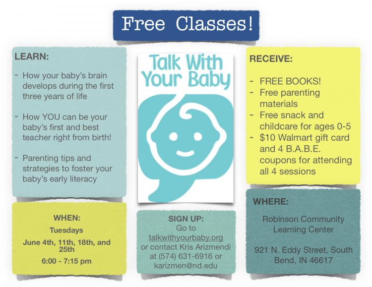 Talk with Your Baby Summer Classes