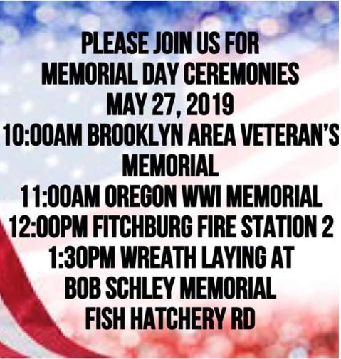Brooklyn Memorial Day Ceremony & local Remembrance