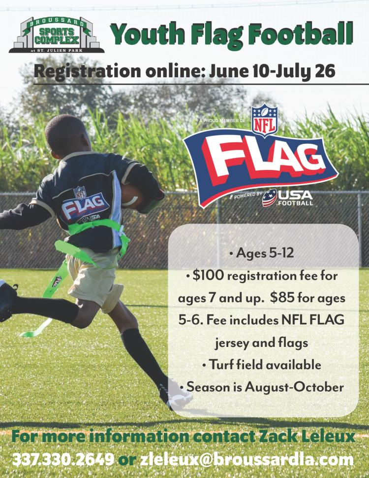 Youth NFL Flag Football Registration