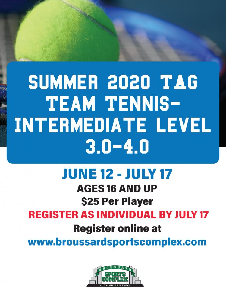 Tag Team Tennis League Intermediate (Levels 3.0-4.0)