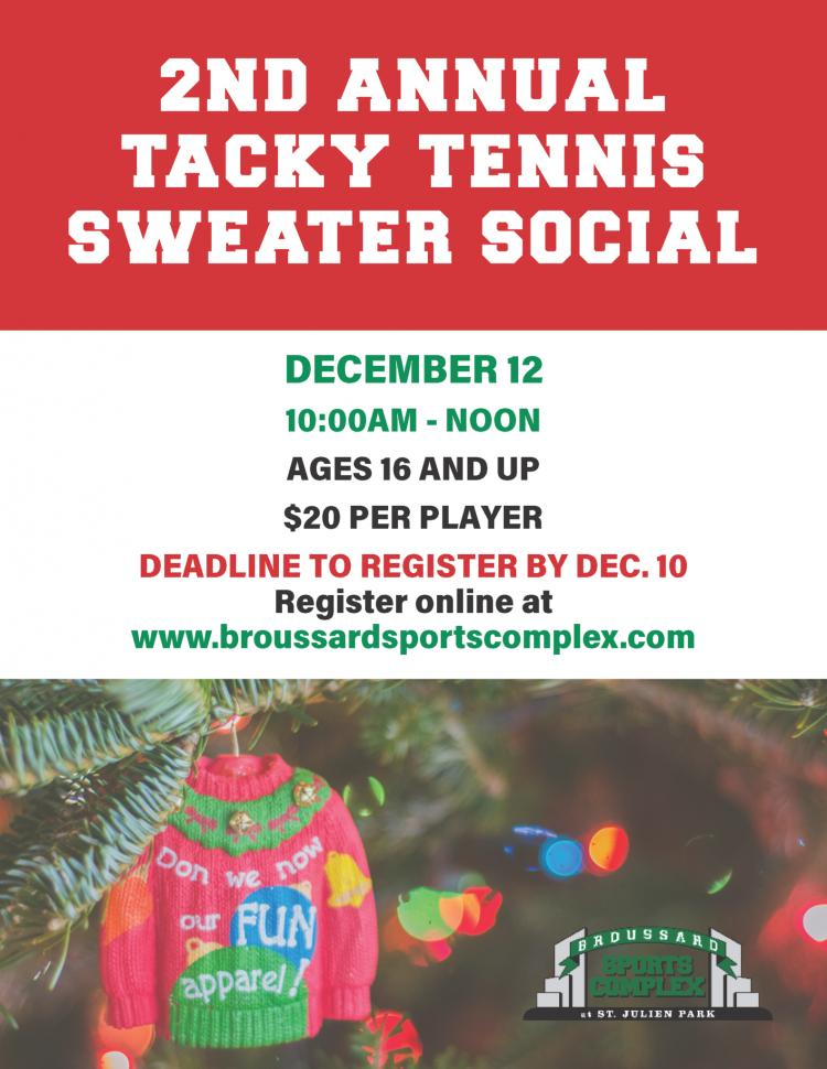 2nd Annual Tacky Tennis Sweater Social