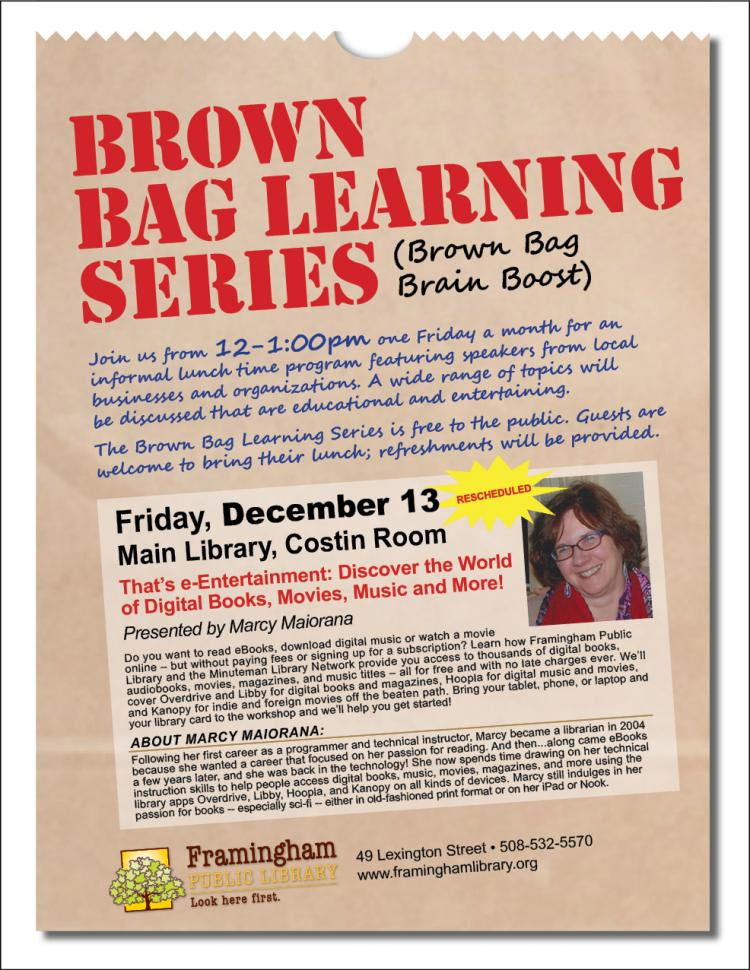 Brown Bag Learning Series: That's e-Entertainment: Discover the World of Digital