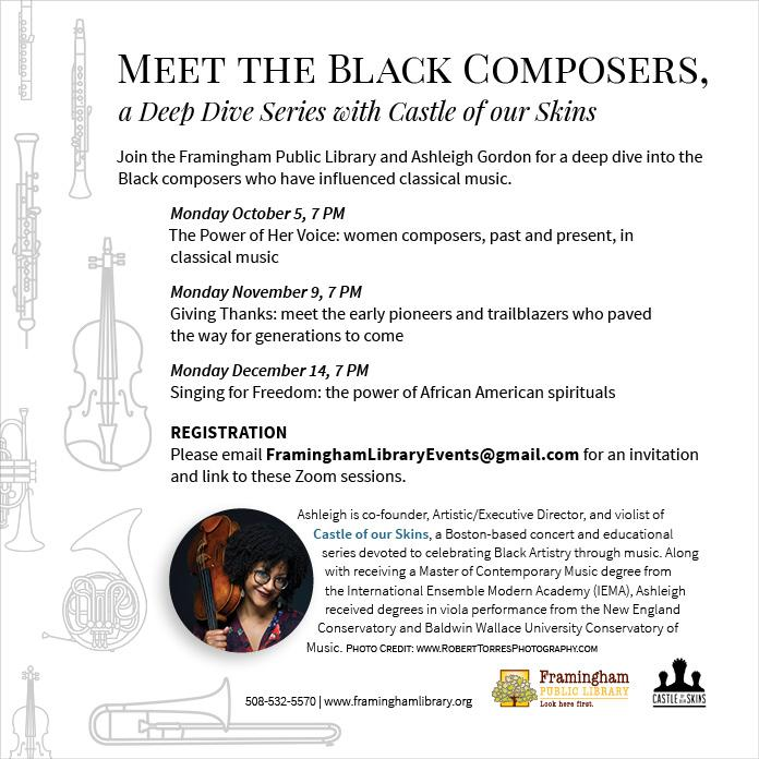 Meet the Black Composers, a Deep Dive Series with Castle of our Skins. Part III.