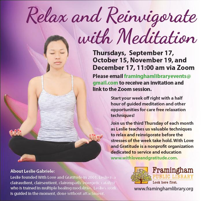 Relax and Reinvigorate with Meditation.