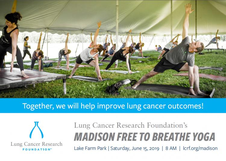 Free to Breathe Yoga for Lung Cancer Research Foundation