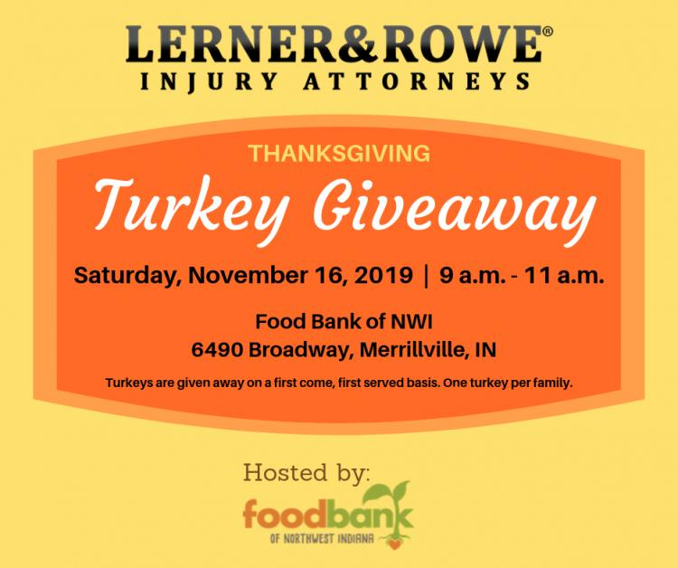 FREE Merrillville Turkey Giveaway Presented By Lerner and Rowe Injury Attorneys