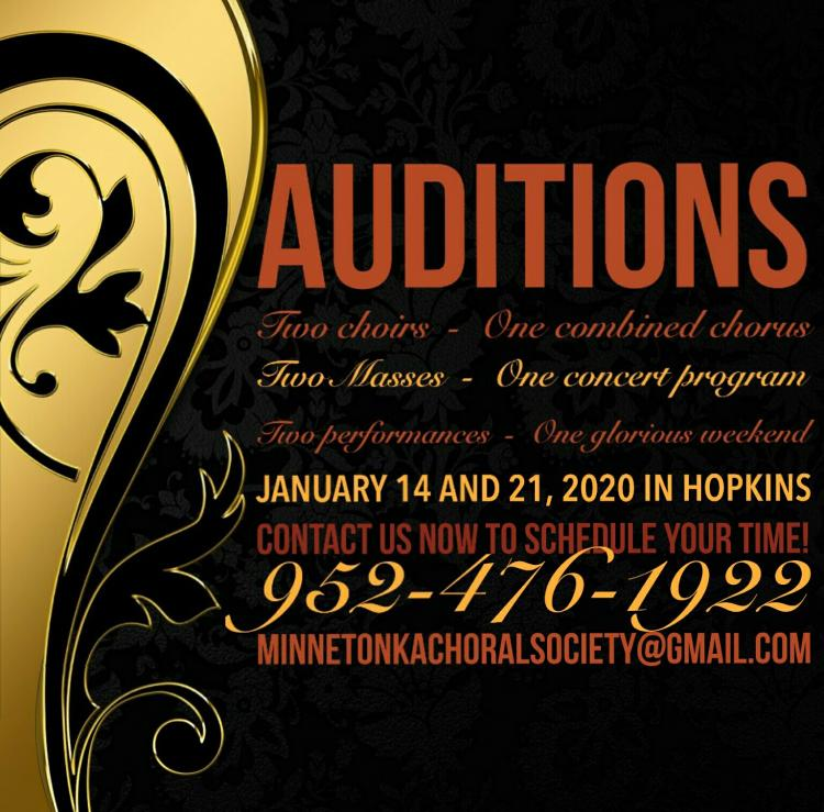 Auditions for Minnetonka Choral Society