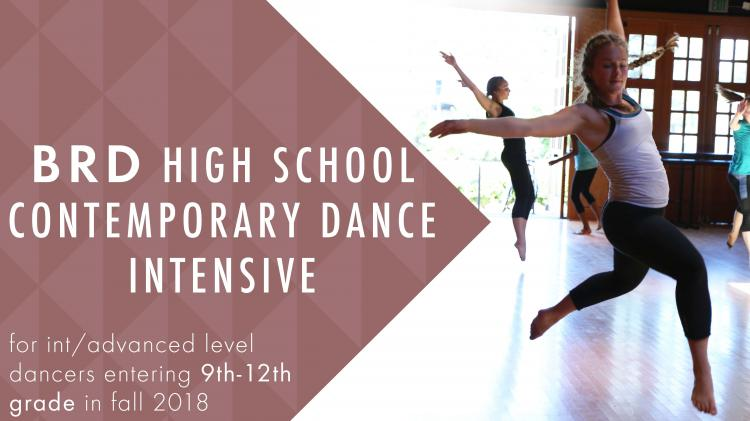 BRD High School Contemporary Dance Intensive