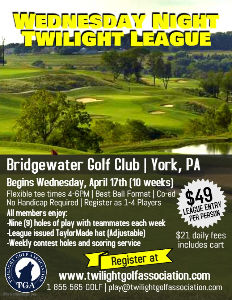 Wednesday Twilight League at Bridgewater Golf Club