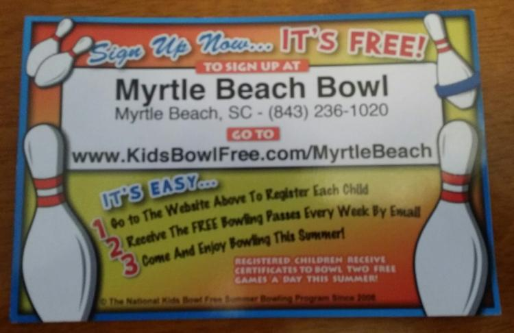Register Your Kids to Bowl FREE All Summer Long at Myrtle Beach Bowl