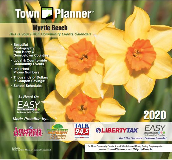 The Town Planner FREE Community Calendars are mailing 12/17-12/31