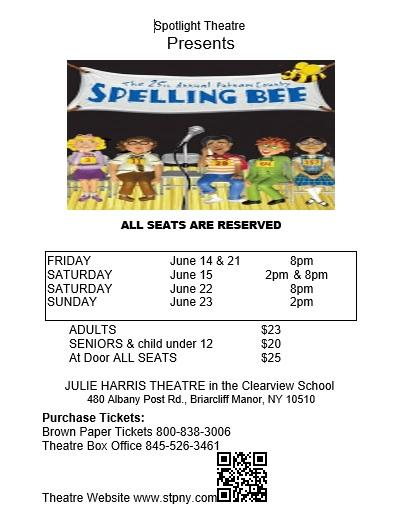 the 25th. Annual Putnam County Spelling Bee ... Broadways hilarious musical