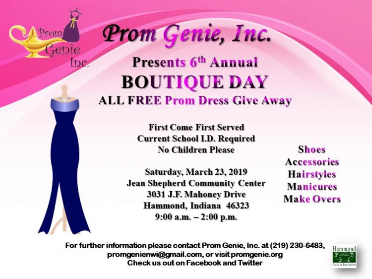 Prom Genie's 6th Annual Boutique Day (Prom Dress Give Away)