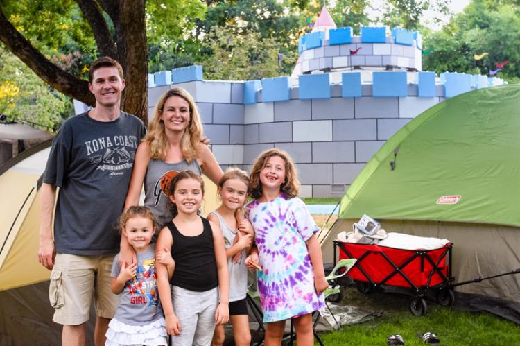 Family Campout at Fairytale Town
