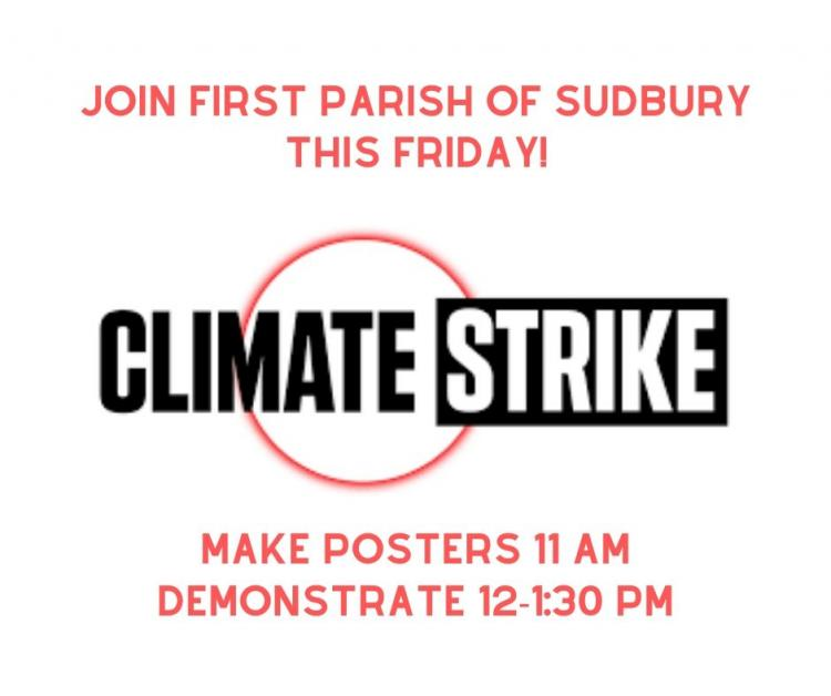 First Parish to Participate in Student Climate Strike Friday, December 6