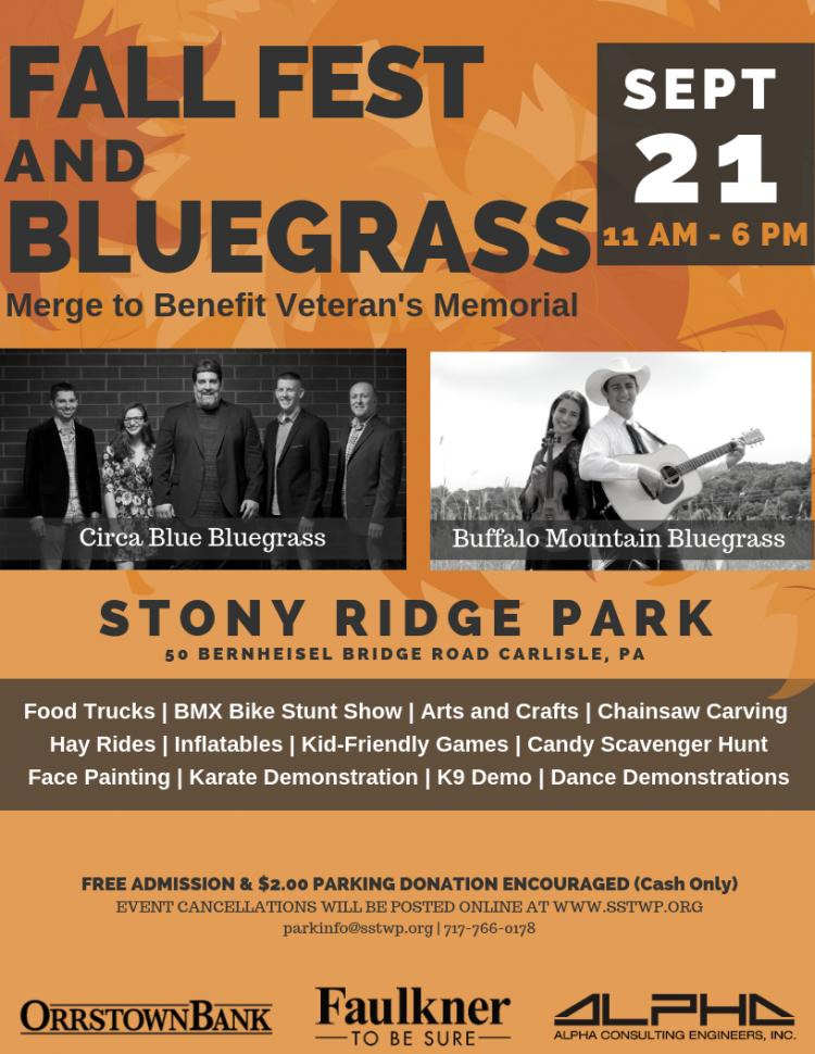 Fall Fest & Bluegrass Festival - Vendor space availiable
