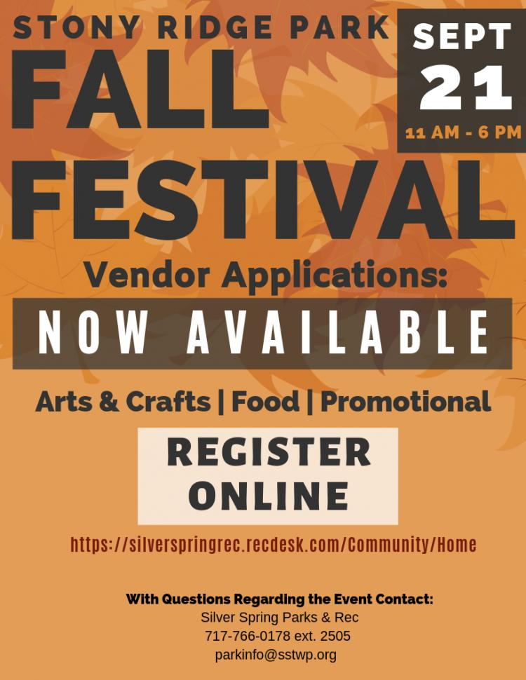 Fall Fest Vendor Applications - NOW AVAILABLE!