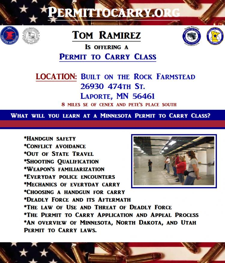 Permit to Carry (Concealed Carry) Class - Laporte