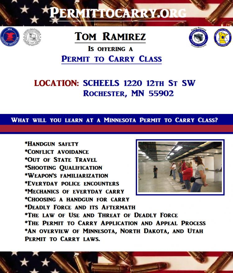 Permit to Carry (Concealed Carry) Class - Rochester