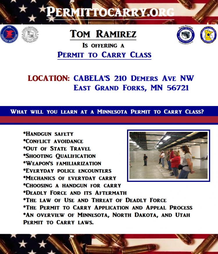 Permit to Carry (Concealed Carry) Class - E. Grand Forks