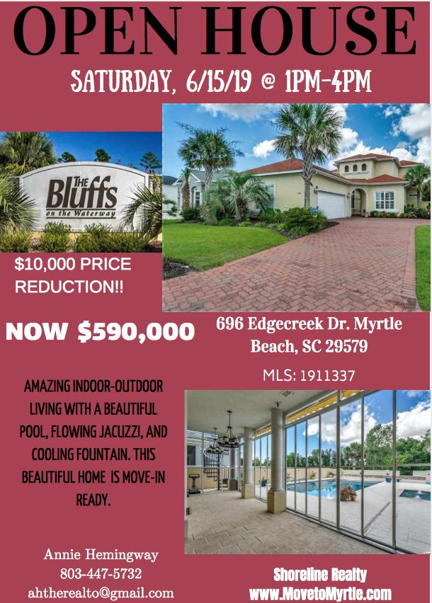 OPEN HOUSE @ 696 Edgecreek Dr. on Saturday 6/15/19 from 1pm-4pm