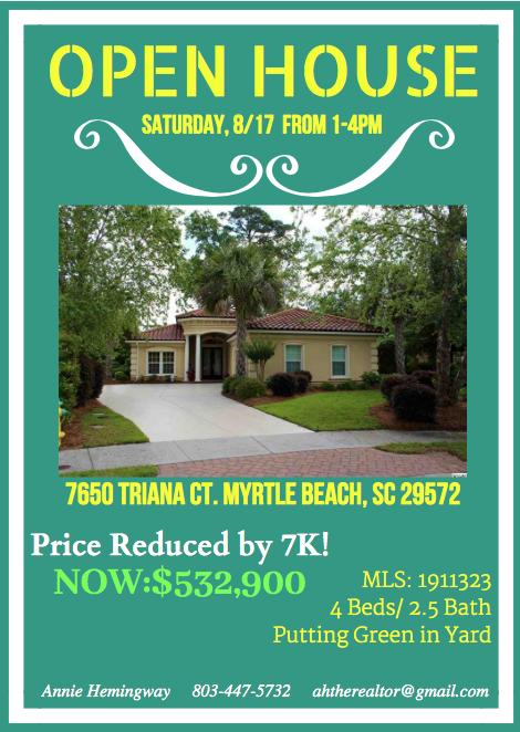OPEN HOUSE @ 7650 Triana Ct. MB