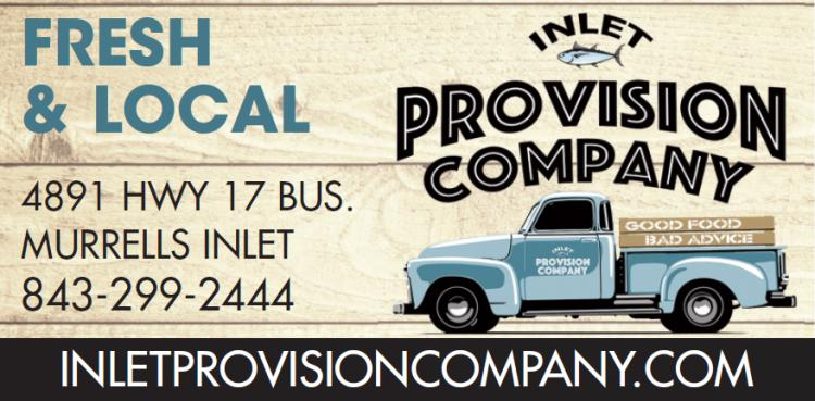 Inlet Provision Company now open Mon - Sat 11:30 a.m.