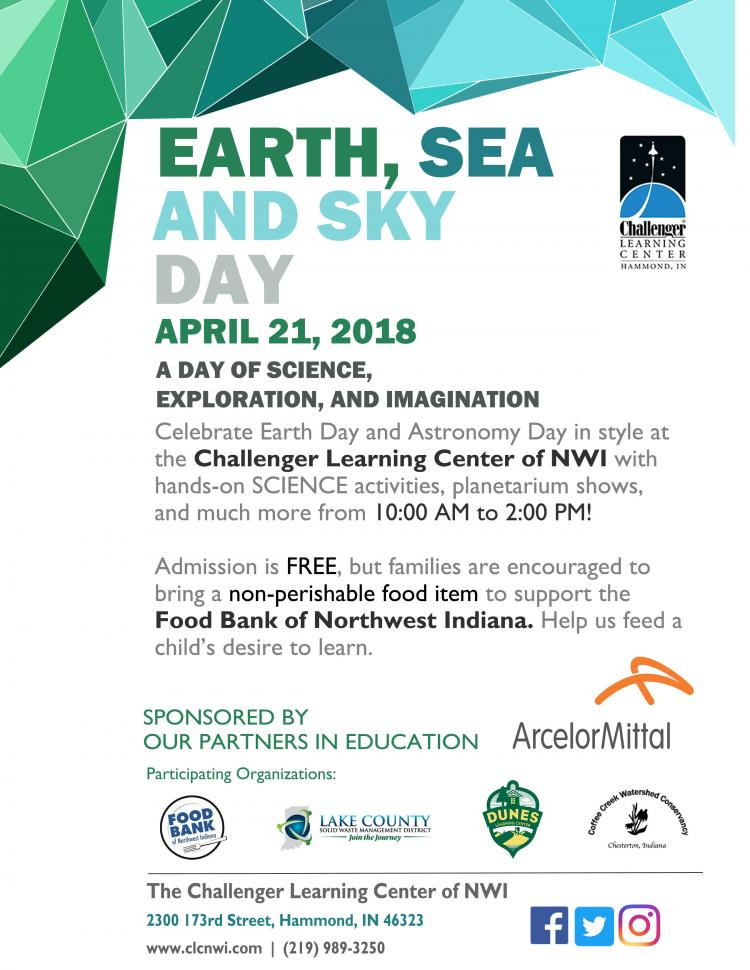 Earth, Sea and Sky Day at Challenger Learning Center