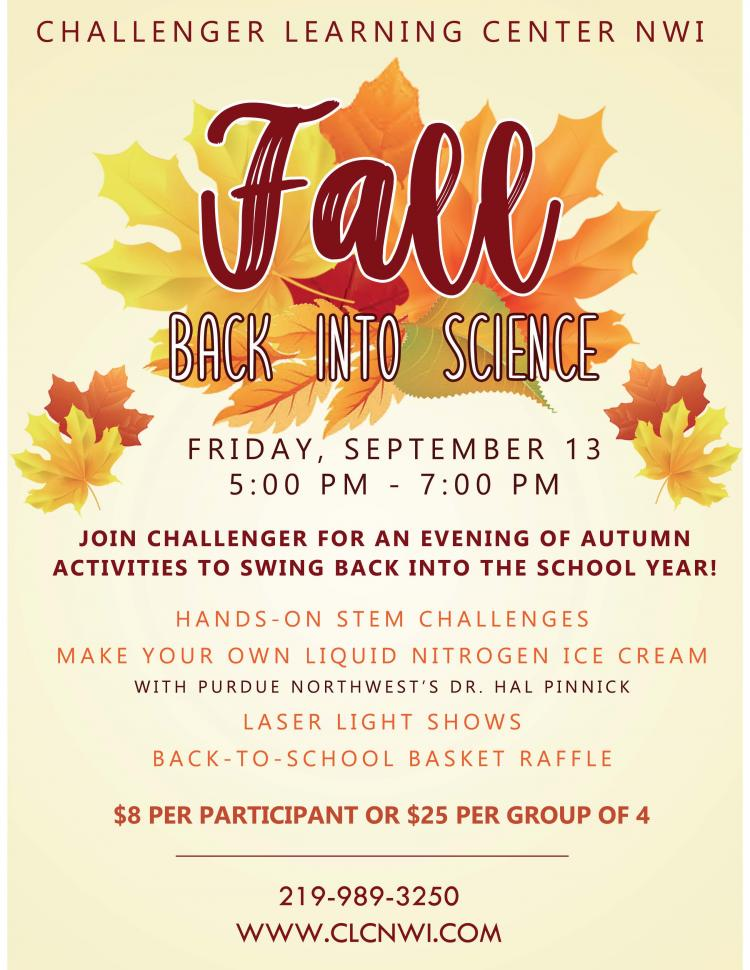 Fall Back into Science Evening Open House