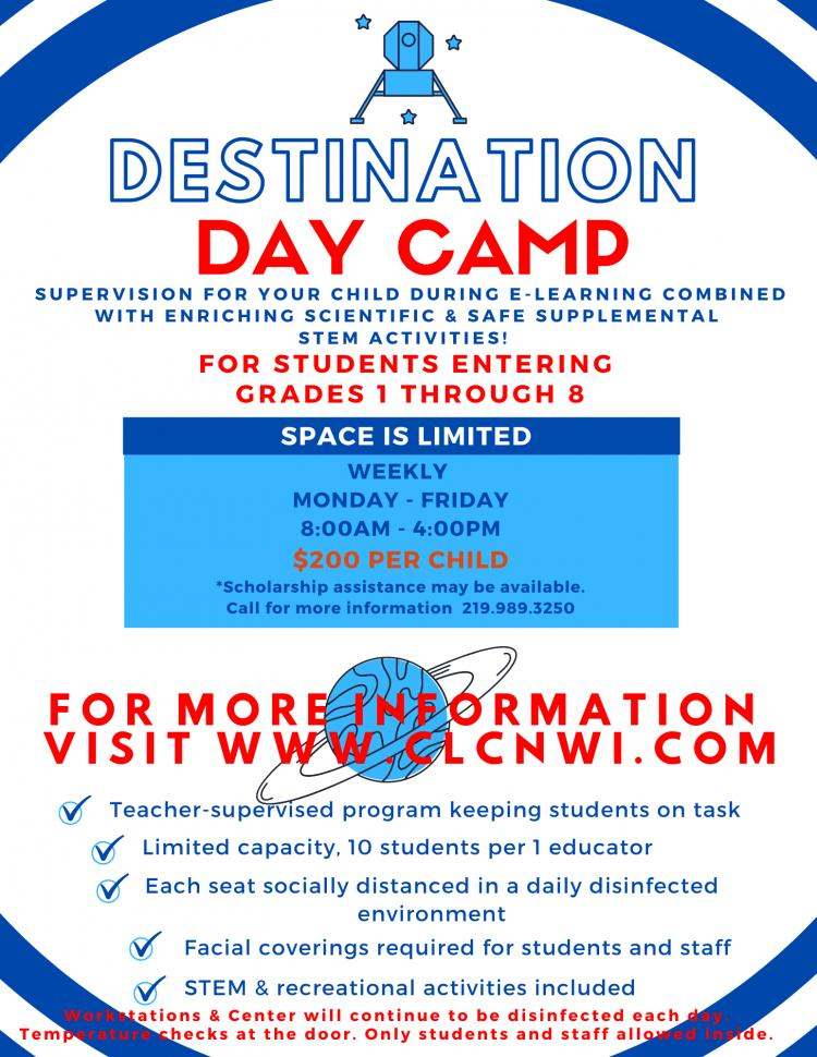 Destination Day Camp at the Challenger Learning Center