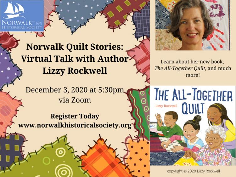 Norwalk Quilt Stories: Virtual Talk with Author Lizzy Rockwell