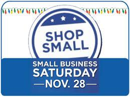 Support SMALL BUSINESS SATURDAY & Shop Local All Year!