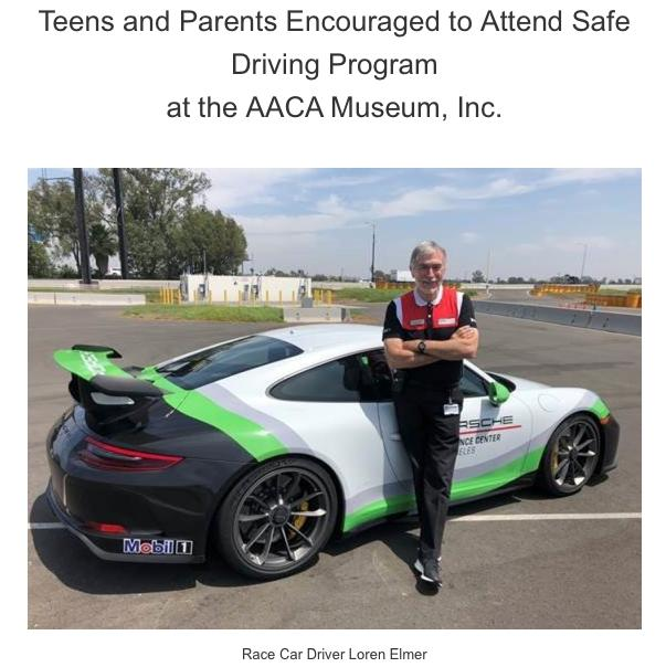 FREE Safe Driving Program for teens & parents at AACA Museum, Inc.