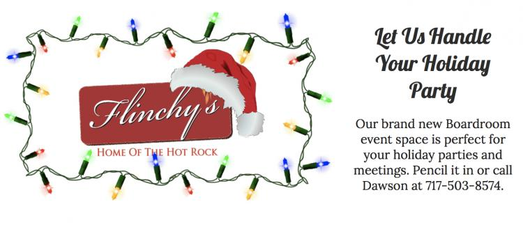 Host your Holiday Day Party at Flinchy's!