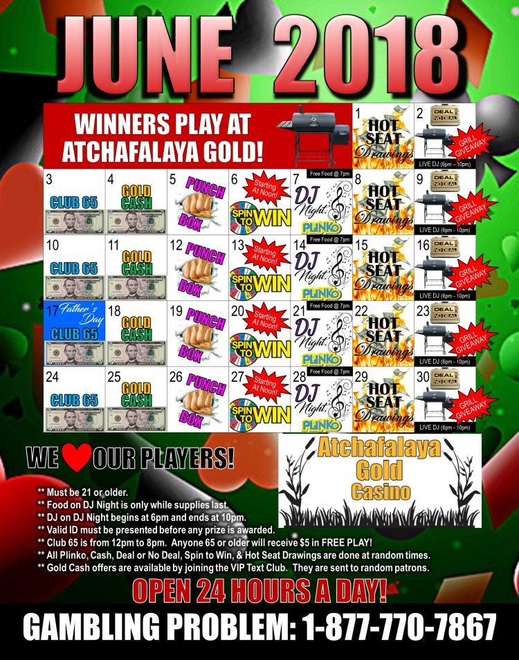 Atchafalaya Gold Casino:  Deal or NO Deal