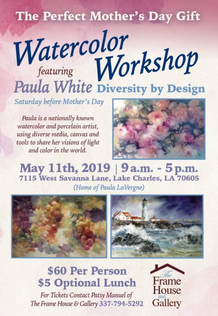 Watercolor Workshop featuring Paula White