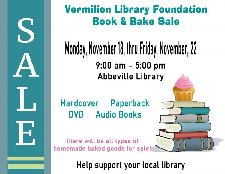 Vermilion Library Foundation Book & Bake Sale