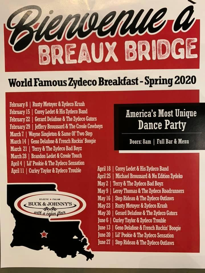 Buck and Johnny's: Zydeco Breakfast