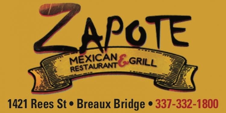 ZAPOTE:  Open for Take Out Orders!