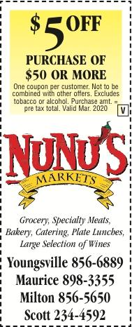 NUNU'S FRESH MARKET:  Coupons Available to Shop & Save with Us!